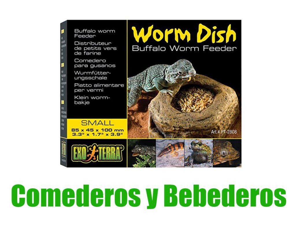 comederos y bebederos para anfibios comprar