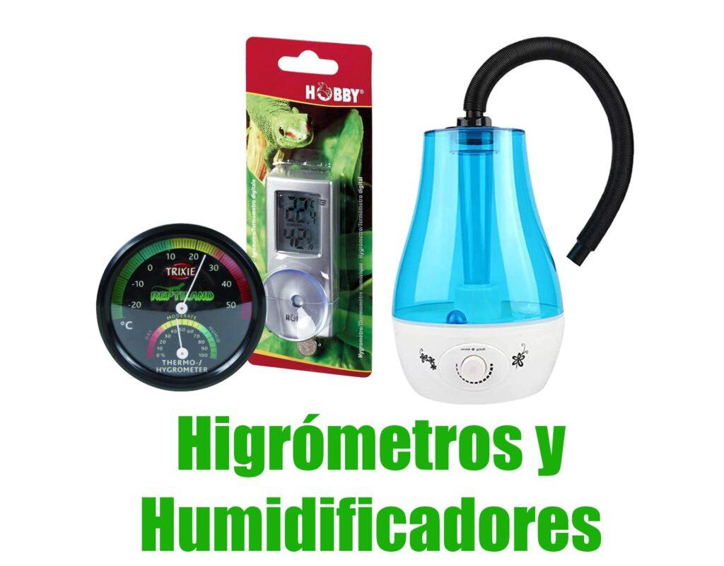 higrometros y humidificadores de terrario para anfibios comprar