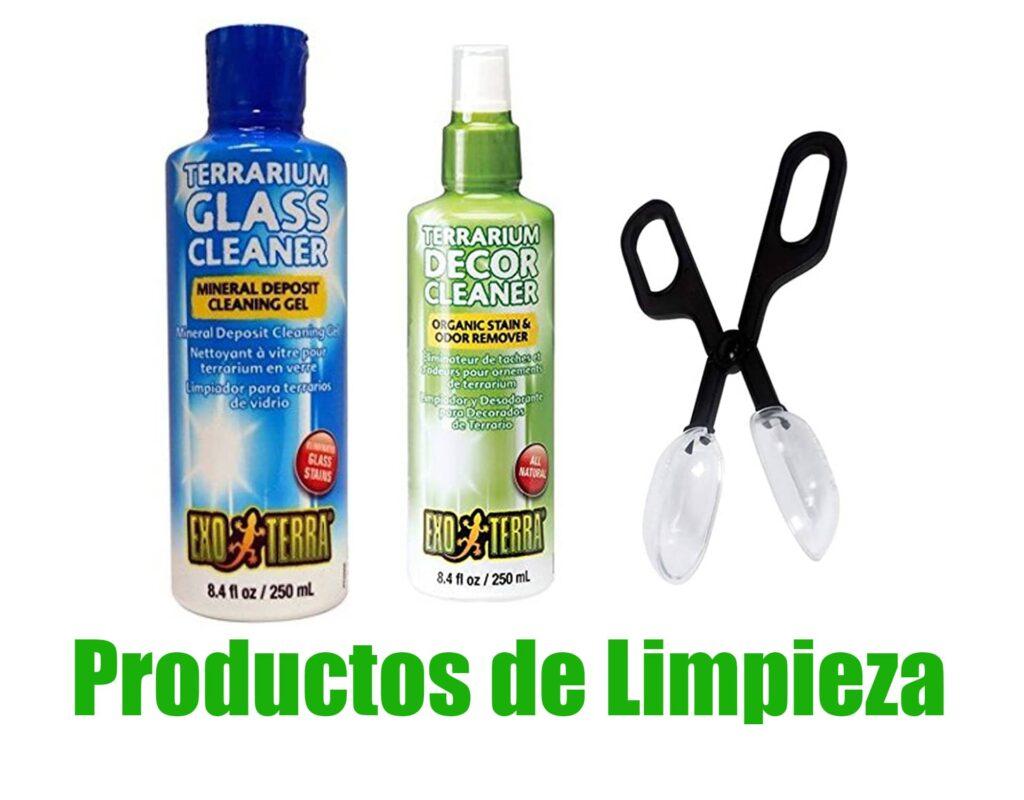 productos de limpieza de terrarios para anfibios