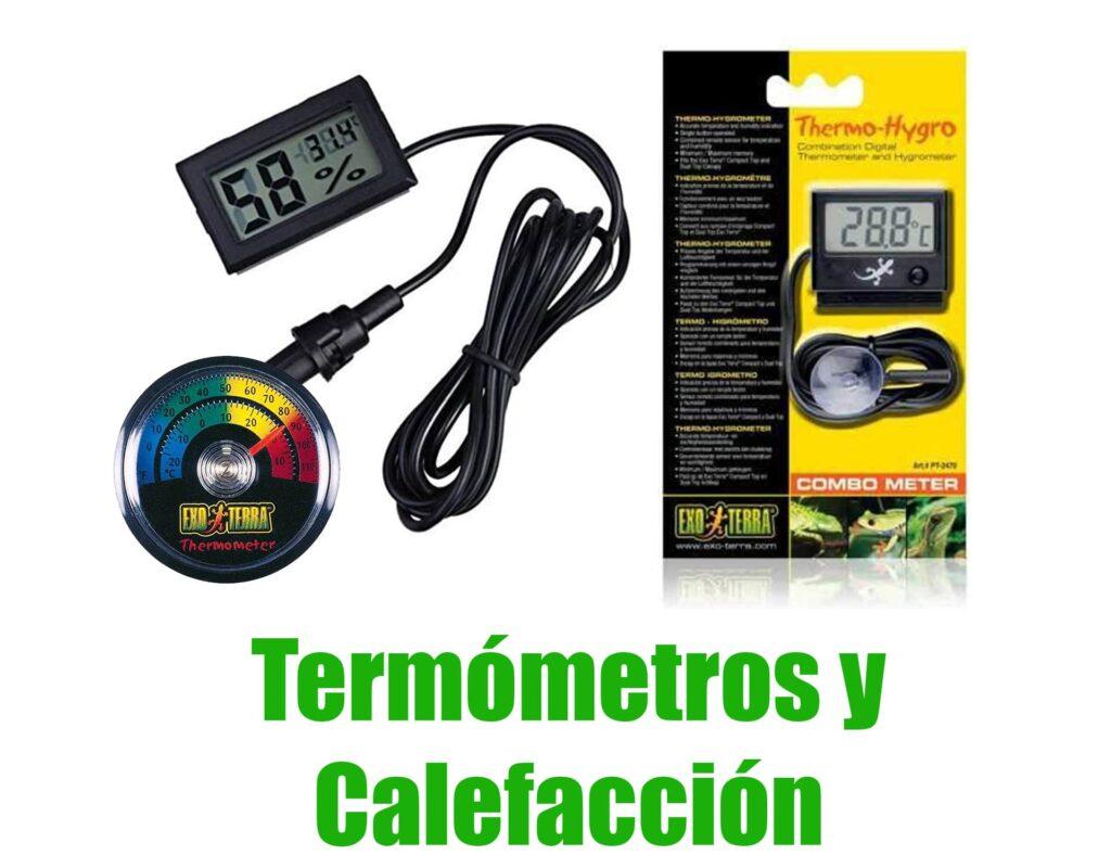 termometros y calefacción de terrario para anfibios comprar