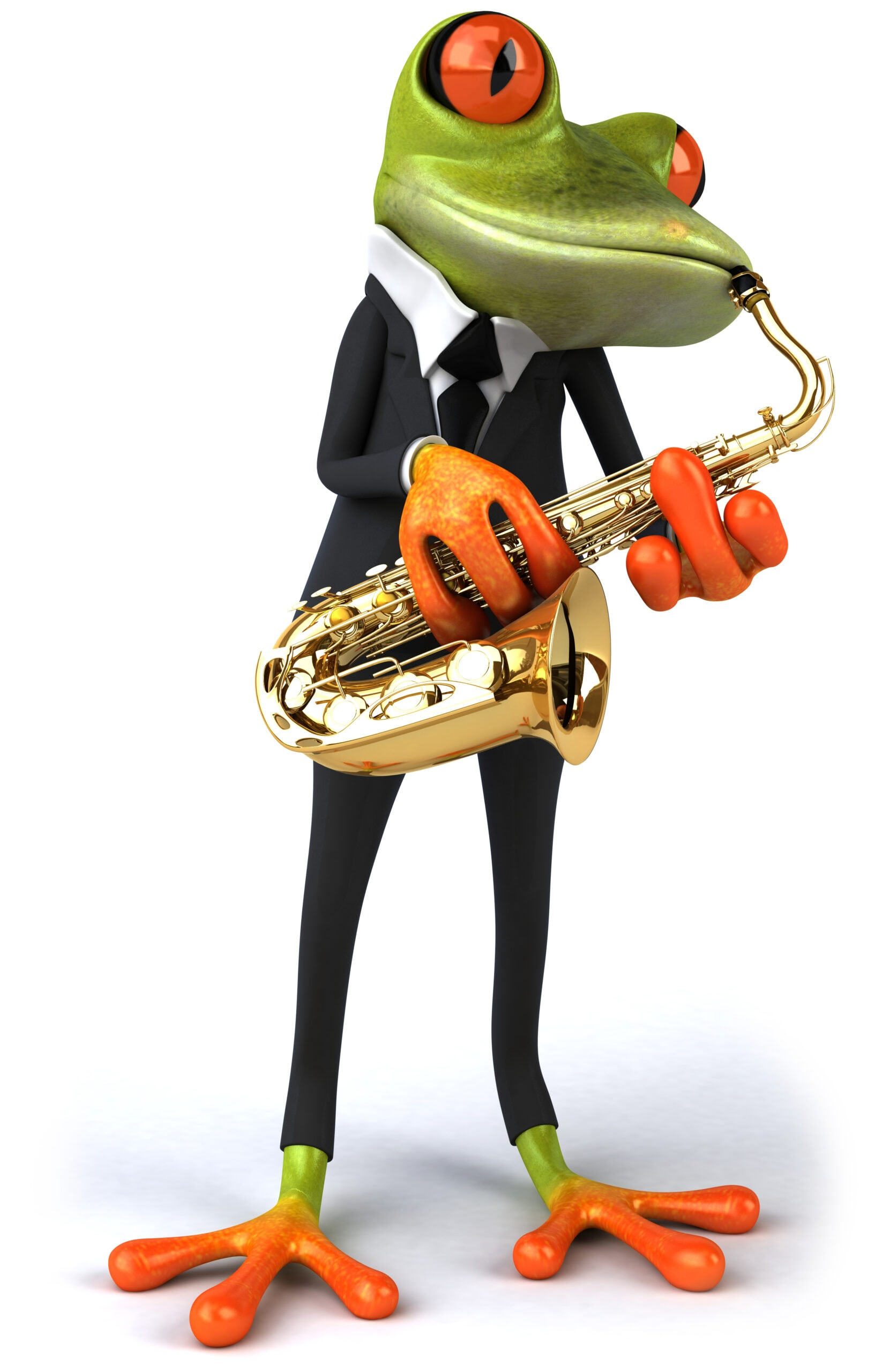 rana tocando el saxofon