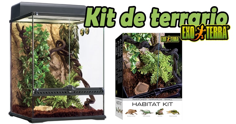 review kit para terrario tropical exoterra